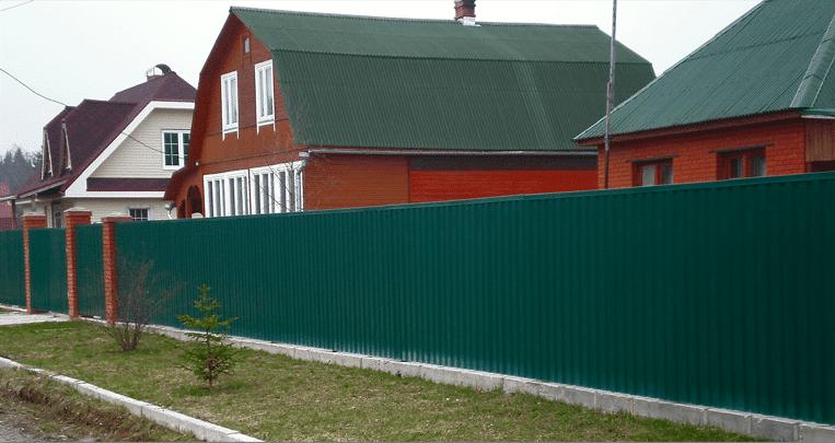 Забор из профлиста фото