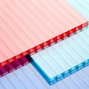 Цветной сотовый поликарбонат фото