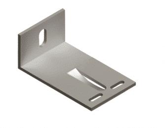 Кронштейн алюминиевый 100*60*40 фото