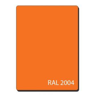 Алюминиевые композитные панели однотонный оранжевый RAL 2004