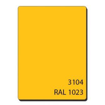 Алюминиевые композитные панели однотонный желтый 3104