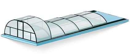 Комбинированный павильон для бассейна фото