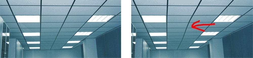 Проверка монтажа подвесного потолка Армстронг фото 6